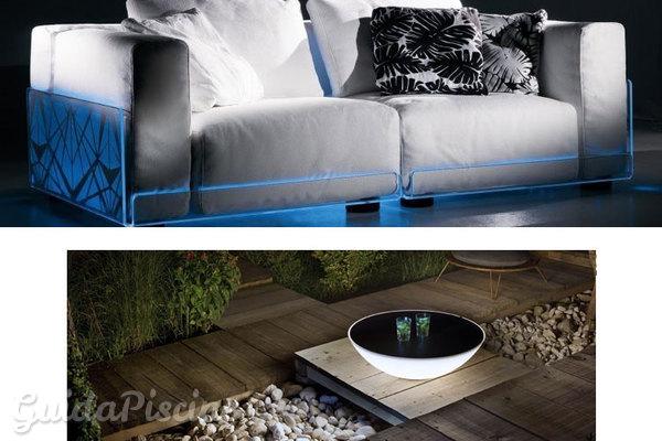 Illuminazione e arredo di design per una festa in piscina for Illuminazione d arredo