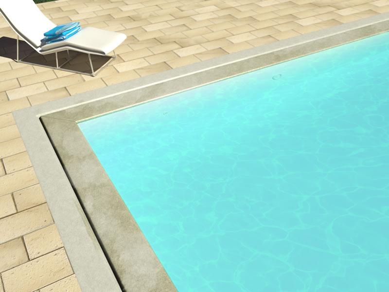 Tutte le tipologie esistenti di piscine a sfioro for Bordi per piscina prezzi