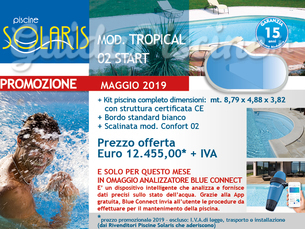 PISCINA SOLARIS START MOD. TROPICAL 01 DIM. MT. 8,79 x 4,88 x 3,82