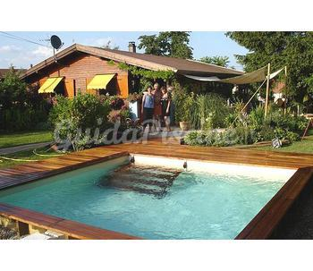Piscina fuoriterra in legno modello elba palbo piscine - Piscina fuori terra quadrata ...
