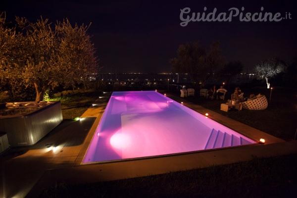 Fari subacquei che rivoluzionano l aspetto della piscina - Strisce led per bordo piscina ...