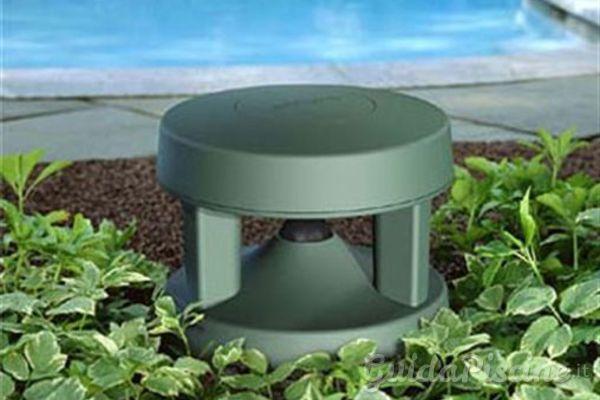 Diffusore audio a forma di pietra, fungo o cespuglio