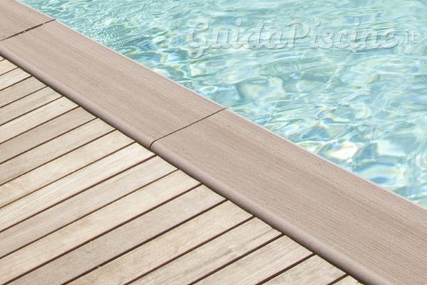 Bordi piscina in legno sintetico indeformabile e for Bordo piscina legno