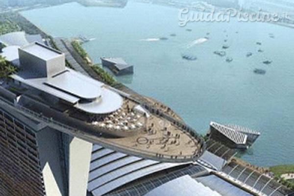 La piscina pi alta del mondo a singapore for Piani del padiglione della piscina