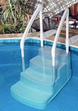 Scalette per piscine di tutti i tipi - Scala per piscina fuori terra ...