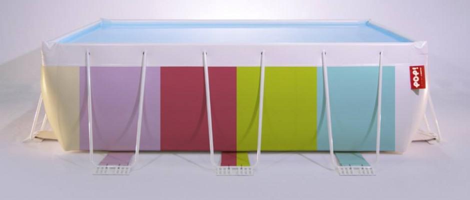 La piscina smontabile si colora e diventa fashion for Vasca pvc laghetto
