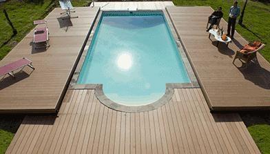 Le 5 coperture invernali e telescopiche pi chic - Coperture mobili per piscine ...