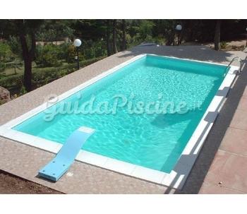 Piscina prefabbricata rettangolare di giuseppe piscine - Impianto filtrazione piscina prezzo ...