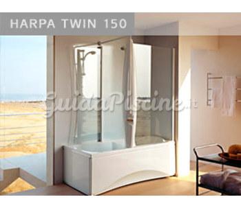 vasca con doccia idromassaggio : vasca-idromassaggio-con-box-doccia-harpa-twin-150-base_0